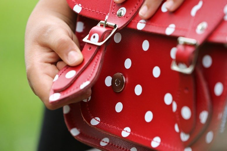 サッチェルバッグ<Polka Dot Collection / Red and White>