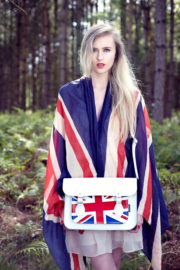 サッチェルバッグ<Union Jack Collection / White Union Jack>