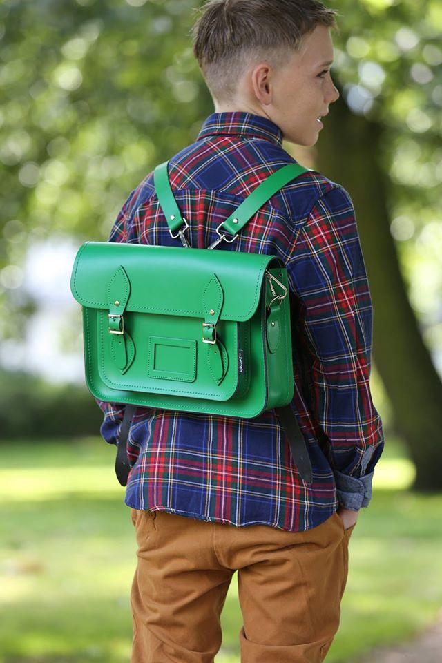 サッチェルバッグ<Classic Collection / Green>