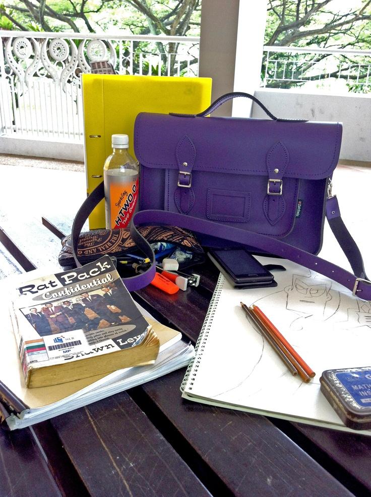 サッチェルバッグ<Classic Collection / Purple>