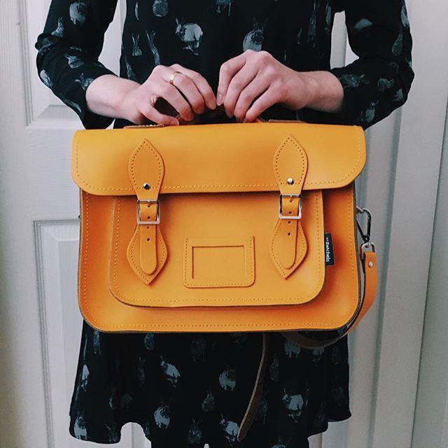 サッチェルバッグ<Classic Collection / Orange>